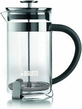 Bialetti Stainless Steel Coffee Pres 8 cups Tea Coldbrew Silver #06706 NEW