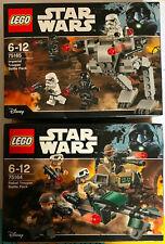 BOITE SET LEGO STAR WARS 75164 75165 IMPERIAL & REBEL TROOPER BATTLE PACK