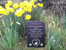 Slate Pet Rabbit Memorial Grave Marker Headstone 3 Sizes Available Heart PawsFS1