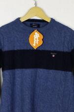 Mens GANT Jumper Kingston SOFT LAMBSWOOL Sweater SLIM Blue XS  P3