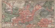 POTSDAM town city stadtplan & environs/umgebung. Nowawes. Brandenburg 1923 map