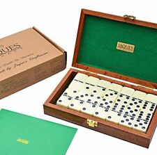 Jaques of London - Gioco del domino in scatola di mogano (k5G)