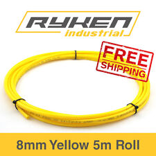 8mm Hose Flexible - Nylon - Yellow / Tube - Pneumatic Air Line / 5m Roll