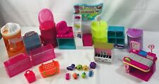 Shopkins Lot 25 Pieces Piano Register Shoe Dazzle Shopping Furniture Gift Set