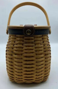 Longaberger Collector's Club Anniversary Basket with Protector + Fabric NICE!