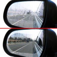 1pair Oval Car Auto Anti Fog Rainproof Rearview Mirror Protective Film Accessory