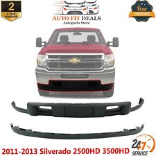 Front Lower Valance And Extension Textured For 2011 2013 Silverado 2500hd 3500hd