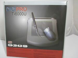 DIGIPRO T-6000U Graphics Tablet w/ Cordless Pen and Mouse - New in box w/ acces.