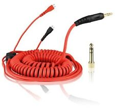 Replacement Coiled DeLuxe Cable for Sennheiser HD25 - HD-25 Headphones - Red