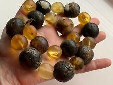 Natural Vintage Amber Beads Antique Baltic Old Necklace 160,50  gr