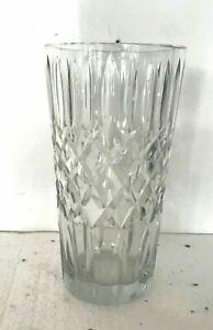 Vas conique en cristal taillé XX siècle