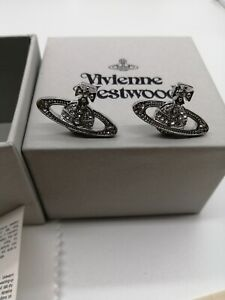 vivienne westwood Mini silver color earrings with box