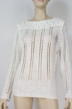 Crossroads White Lacy Pulover Top Size XL