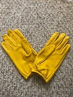 Men's Driving Yellow leather Gloves  Size X-Large