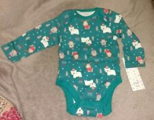 """BABY GIRLS BOYS CHRISTMAS BODYSUIT.""""SNOW MUCH FUN"""" REINDEER  UP TO 3 MONTHS.NEW"""