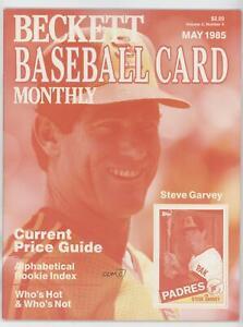 1984-Now Beckett Baseball Steve Garvey May 1985 (Color Test) #7.1