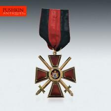 More details for antique 20thc russian gold & enamel st.vladimir 4th class military order c.1900