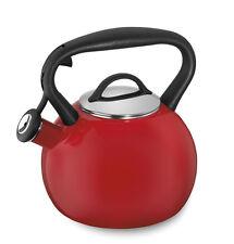 New Cuisinart CTK-EOSTRR 2QT Red Porcelain Enameled Steel Kettle