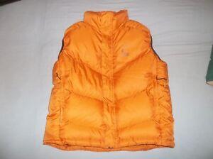 New Sierra Designs Goose Down Vest Jacket Bright Orange New Soft Small WARM NICE