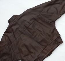 Vintage Early 80's Givenchy Leather Jacket, Medium Size Brown Colour