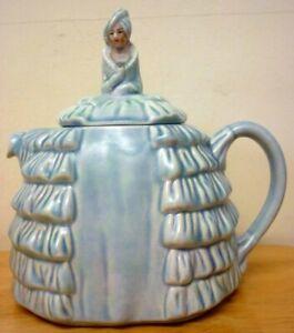 Vintage Blue Sadler Ye Daintee Ladyee Teapot.Crinoline Lady.No Damage or Stains