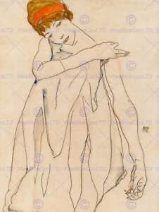 EGON SCHIELE AUSTRIAN DANCER DIE TANZERIN OLD ART PAINTING POSTER BB5246B
