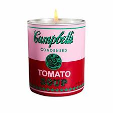 Andy Warhol CAMPBELL Pink Red Scented Candle 5 oz - 40 Hour Burn Time