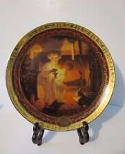 "Fabulous New in Box Norman Rockwell Collectible Christmas Plate ""Is He Coming?"""