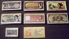 LOTTO 36 FIGURINE BANCONOTE DI TUTTO IL MONDO anni '80 numismatica RARE!
