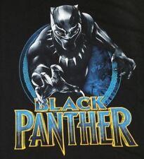Black Panther Mask Mens Graphic T-Shirt Marvel Comic Movie XL