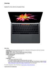 Apple MacBook Pro 13-inch 2018 Four Thunderbolt 3 Ports Technician Service Guide