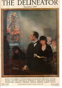 1919 Delineator Cover (only) December - At Church, thankful that the war is over