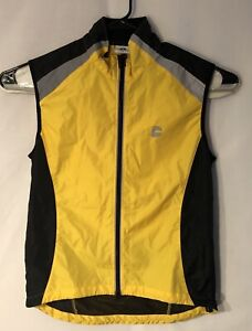CANNONDALE Yellow Black Cycling Jacket Vest High Visibility Sz Large Preowned P2