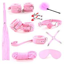 Cozy Feel 10PC Bondage Kit Under Bed Restraint Set BDSM Love Cuffs Multicolo