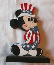 Disney Mickey Mouse Usa Painted Wooden Figure