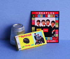 Dollhouse Miniature 1:12 scale  Beatles Flip Your Wig Game 1960s dollhouse toy