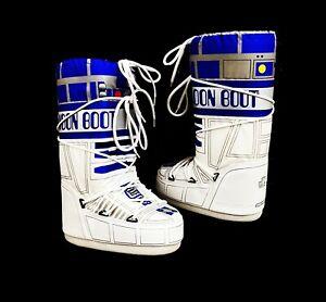 Disney Star Wars R2D2 Womens Technica Moon Boots Snow Boots White Winter Shoe