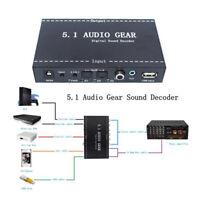 NEW 5.1 Audio Gear Decoder Digital stereo Sound Converter Surround EU/US plug