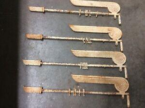 2 pair of Antique Art Deco Cast Iron Curtain Rods