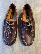 Mens Boat Shoes Size 9 43 Deck Shoe Tan
