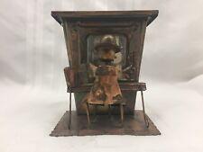 Copper Music Box Decorative Piece/Sculpture - Man Playing Organ / Piano