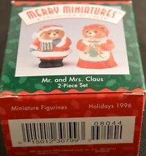 Hallmark Merry Miniatures-'Mr. and Mrs. Claus' 1996 Holidays Set of 2 New In Box
