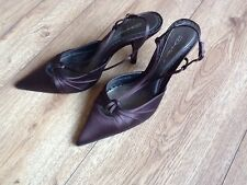 Dolcis  Slingback Satin Shoes Size 6 New Without Box