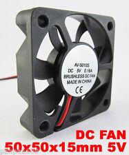 50 un. DC Brushless Ventilador de refrigeración 50x50x10mm 5010 hojas de 7 5V 2pin 2.54 Conector