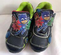PJMasks Blue Sz 7 Light Up Sneakers Shoes Toddler Boys