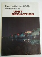Vintage 1960 Railway Age Magazine Electro-Motives Unit Reduction RR Advertising