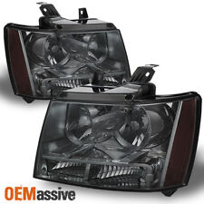 Fit Smoked 07-14 Suburban Tahoe Replacement Headlights 2008 2009 2010 2011