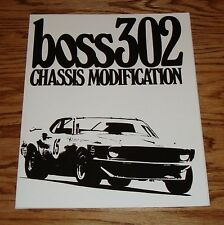 1969 1970 1971 Ford Mustang Boss 302 Chassis Manual Brochure 69 70 71