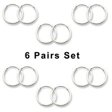 12 pcs Set Mini Hoop Earrings Sterling Silver 925 Bestseller Jewelry USA Seller