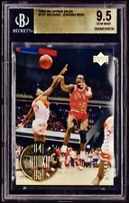 "1998 UPPER DECK ""84-85 ROOKIE"" MICHAEL JORDAN #137  *BGS 9.5 GEM. AJ1 SHOES RC."
